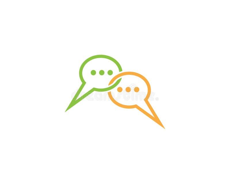 Διανυσματική απεικόνιση προτύπων λογότυπων εικονιδίων λεκτικών φυσαλίδων απεικόνιση αποθεμάτων