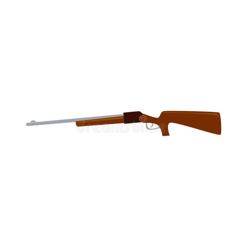 Διανυσματική απεικόνιση πυροβόλων όπλων τουφεκιών που απομονώνεται στο άσπρο υπόβαθρο απεικόνιση αποθεμάτων