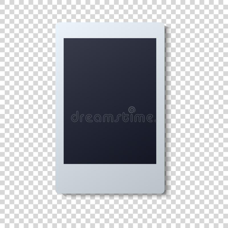Διανυσματική απεικόνιση πλαισίων Polaroid Ενιαία στιγμιαία φωτογραφία με το μαύρο διάστημα για την εικόνα ελεύθερη απεικόνιση δικαιώματος