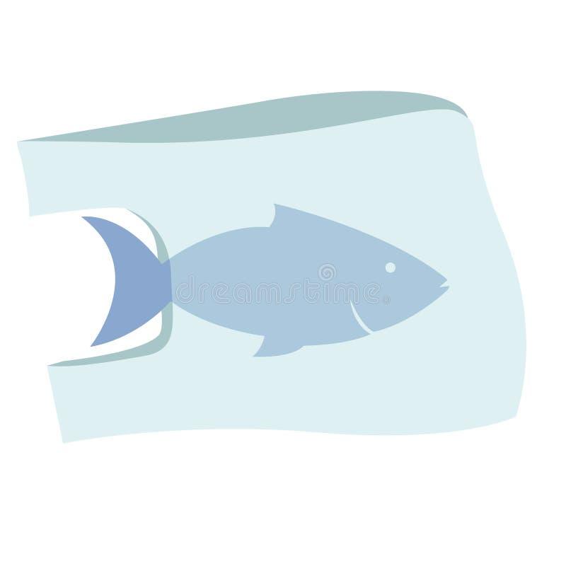 Διανυσματική απεικόνιση ρύπανσης στάσεων ωκεάνια πλαστική ελεύθερη απεικόνιση δικαιώματος