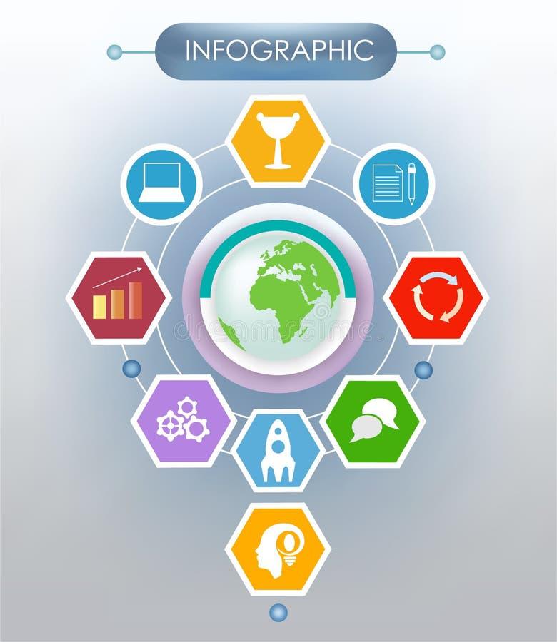 Διανυσματική απεικόνιση σε ένα infographic ύφος απεικόνιση αποθεμάτων