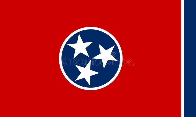 Διανυσματική απεικόνιση σημαιών του κράτους του Τένεσι, Πολιτεία του AM διανυσματική απεικόνιση