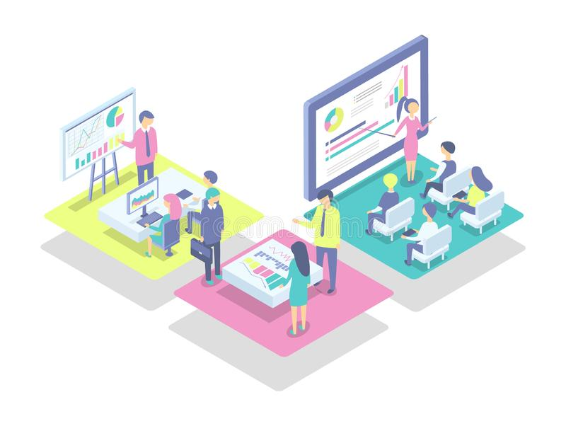 Διανυσματική απεικόνιση στοιχείων Whiteboard και υπολογιστών ελεύθερη απεικόνιση δικαιώματος