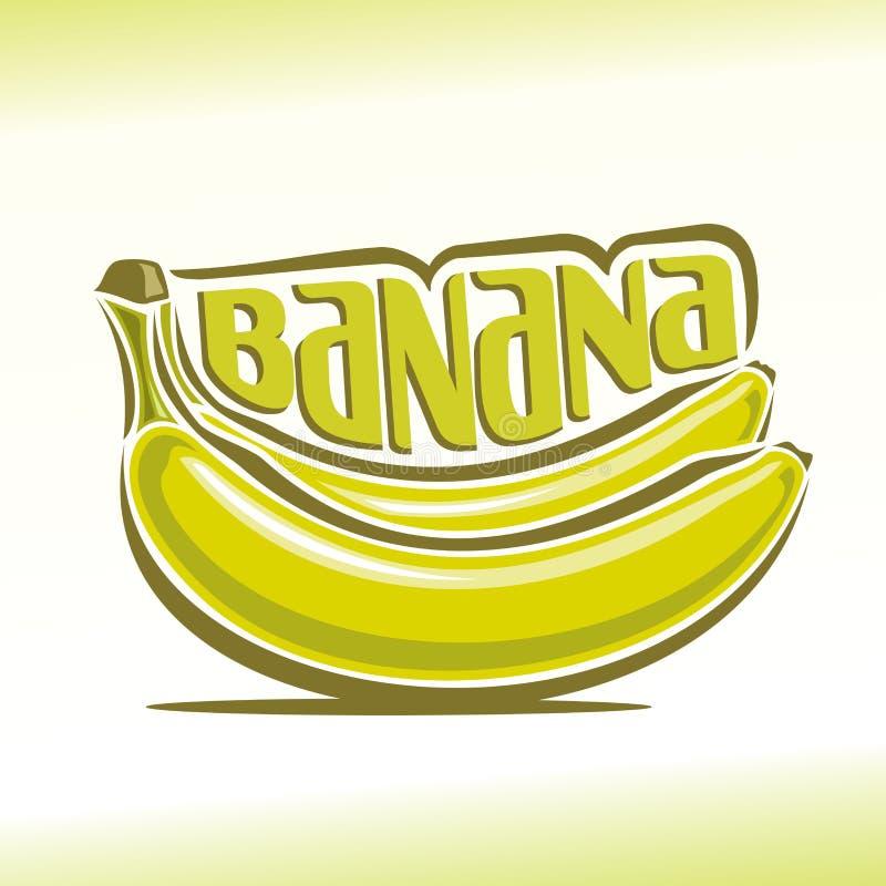 Διανυσματική απεικόνιση στο θέμα της μπανάνας διανυσματική απεικόνιση