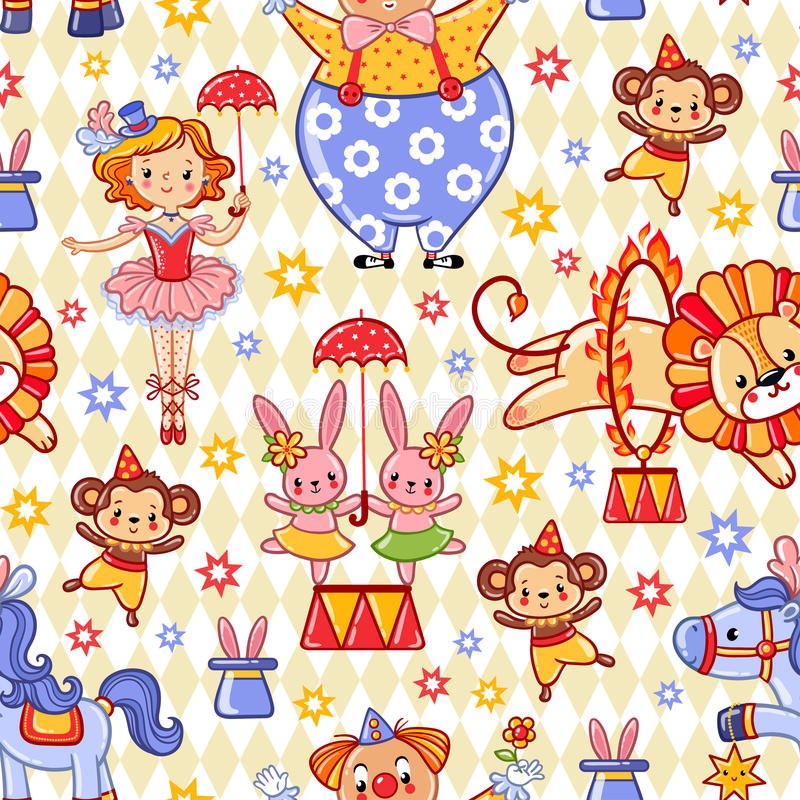 Διανυσματική απεικόνιση στο τσίρκο θέματος διανυσματική απεικόνιση