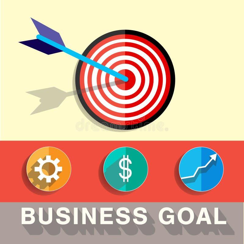 Διανυσματική απεικόνιση στόχου επιχειρησιακών στόχων στοκ εικόνα με δικαίωμα ελεύθερης χρήσης