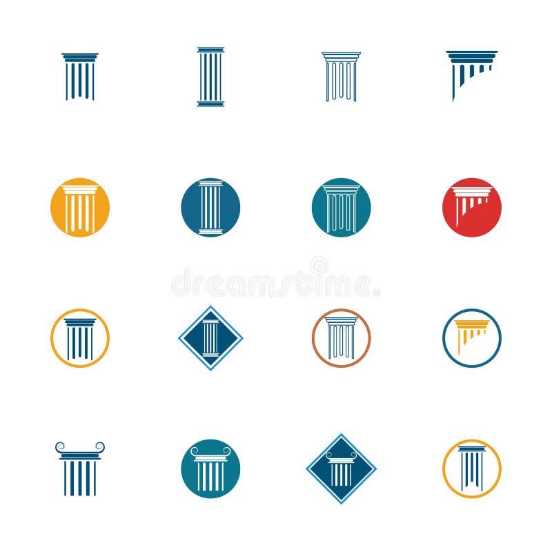 διανυσματική απεικόνιση σχεδίου εικονιδίων προτύπων λογότυπων στηλών διανυσματική απεικόνιση