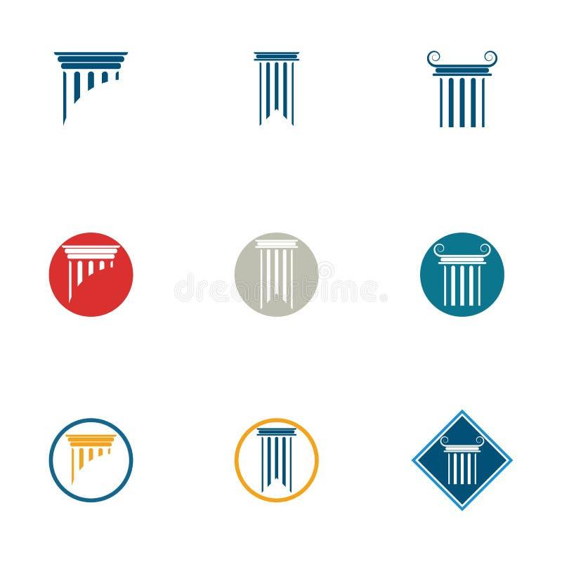 διανυσματική απεικόνιση σχεδίου εικονιδίων προτύπων λογότυπων στηλών ελεύθερη απεικόνιση δικαιώματος