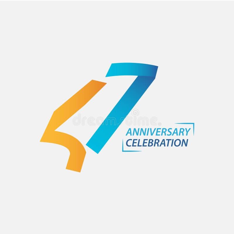 Διανυσματική απεικόνιση σχεδίου προτύπων εορτασμού επετείου 47 έτους απεικόνιση αποθεμάτων