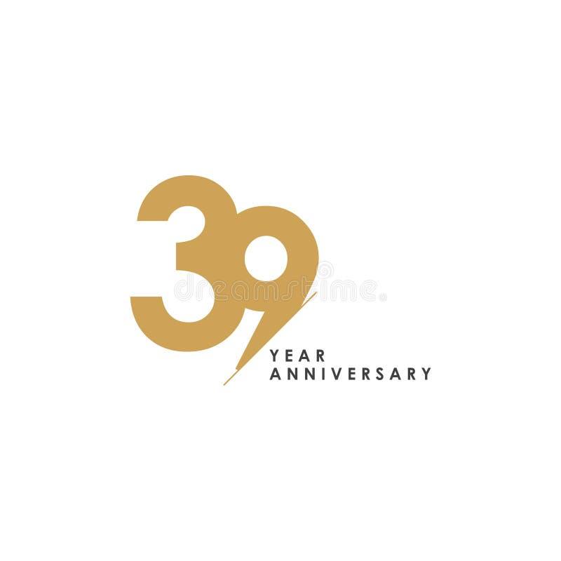 Διανυσματική απεικόνιση σχεδίου προτύπων επετείου 39 έτους ελεύθερη απεικόνιση δικαιώματος