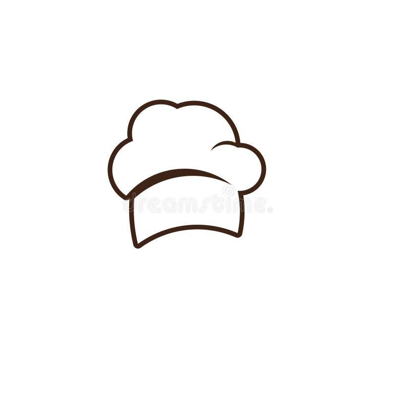 Διανυσματική απεικόνιση σχεδίου προτύπων καπέλων αρχιμαγείρων ελεύθερη απεικόνιση δικαιώματος