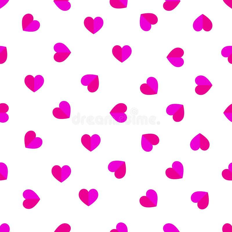 Διανυσματική απεικόνιση σχεδίων ημέρας του άνευ ραφής βαλεντίνου καρδιών ευτυχούς απεικόνιση αποθεμάτων