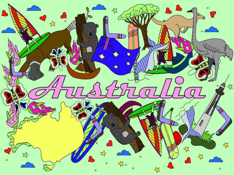 Διανυσματική απεικόνιση της Αυστραλίας απεικόνιση αποθεμάτων