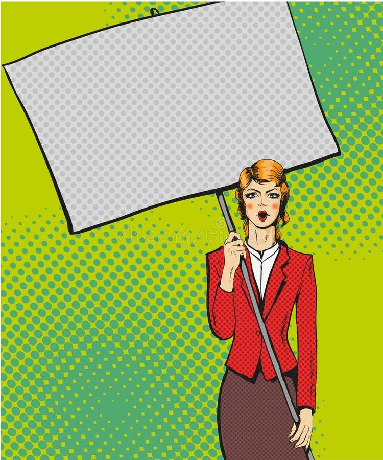 Διανυσματική απεικόνιση της κενής αφίσας της Λευκής Βίβλου εκμετάλλευσης γυναικών απεικόνιση αποθεμάτων