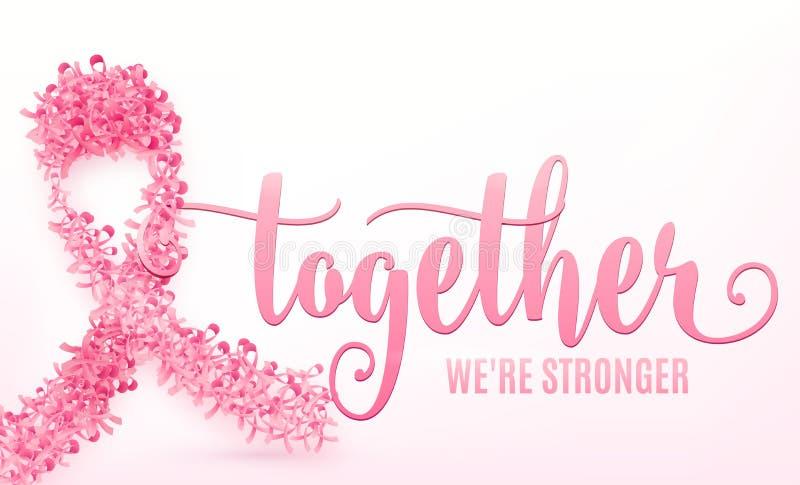 Διανυσματική απεικόνιση της κορδέλλας καρκίνου του μαστού ελεύθερη απεικόνιση δικαιώματος