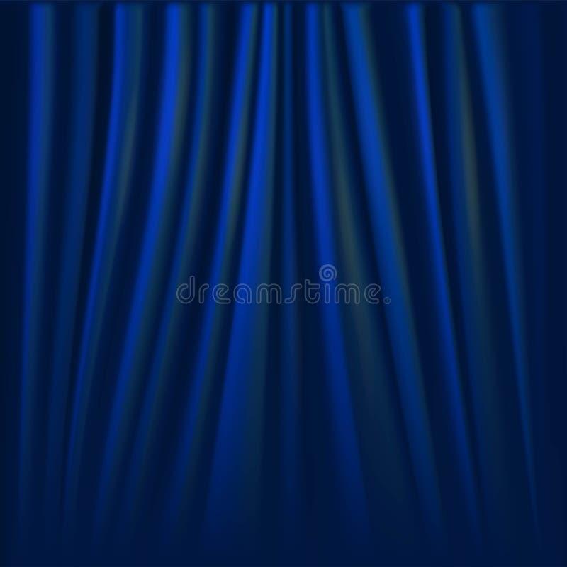 Διανυσματική απεικόνιση της μπλε κουρτίνας διανυσματική απεικόνιση