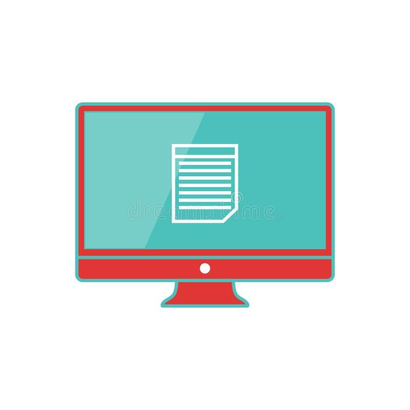 Διανυσματική απεικόνιση της οθόνης υπολογιστή στοκ φωτογραφία με δικαίωμα ελεύθερης χρήσης