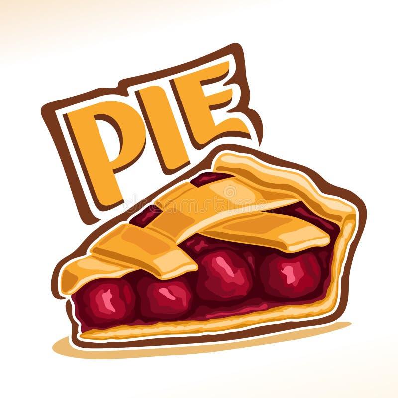 Διανυσματική απεικόνιση της πίτας κερασιών ελεύθερη απεικόνιση δικαιώματος