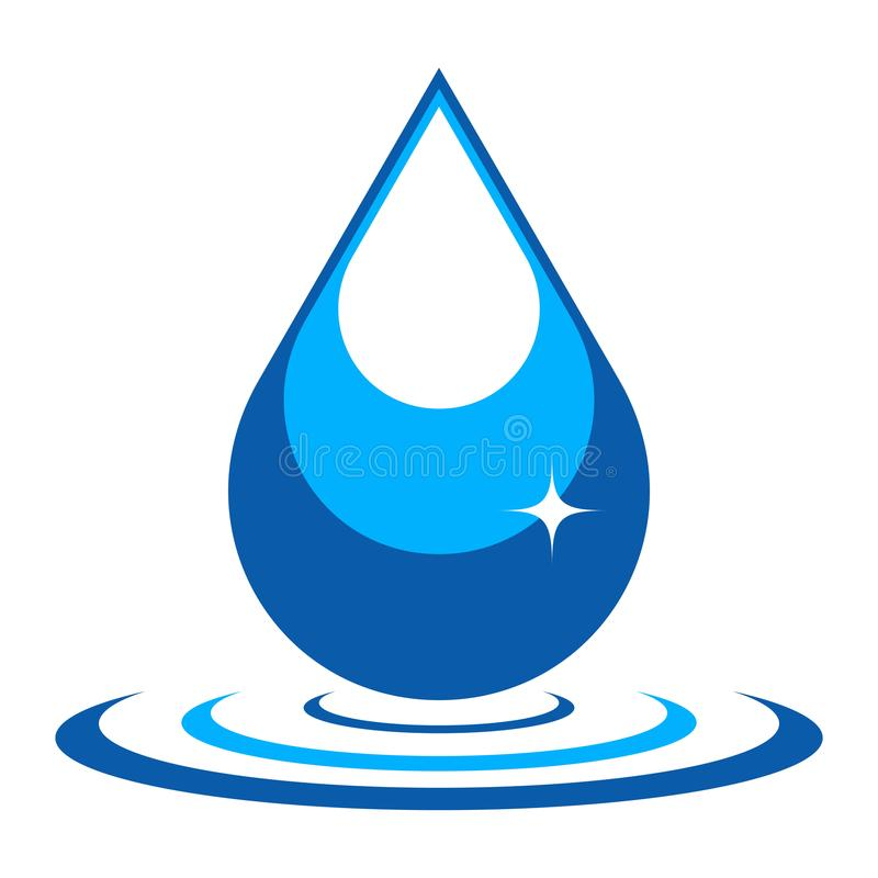 Διανυσματική απεικόνιση της πτώσης νερού ελεύθερη απεικόνιση δικαιώματος