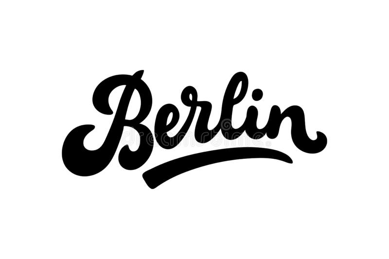 Διανυσματική απεικόνιση του Βερολίνου, Γερμανία, εγγραφή ελεύθερη απεικόνιση δικαιώματος