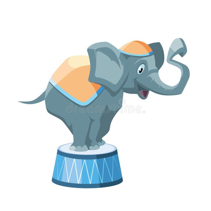 Διανυσματική απεικόνιση του ελέφαντα τσίρκων απεικόνιση αποθεμάτων