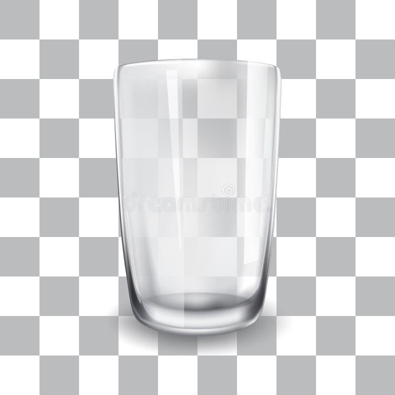 Διανυσματική απεικόνιση του κενού φλυτζανιού γυαλιού ελεύθερη απεικόνιση δικαιώματος