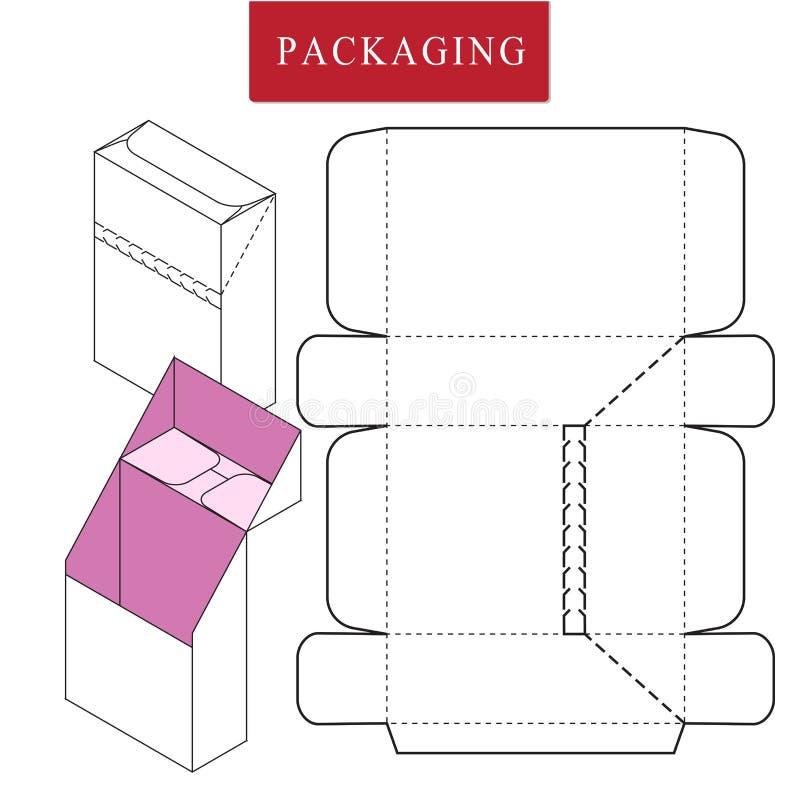 Διανυσματική απεικόνιση του κιβωτίου Πρότυπο συσκευασίας διανυσματική απεικόνιση