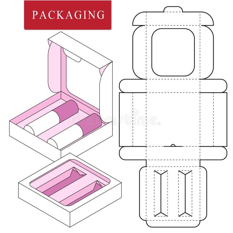 Διανυσματική απεικόνιση του κιβωτίου Πρότυπο συσκευασίας απεικόνιση αποθεμάτων