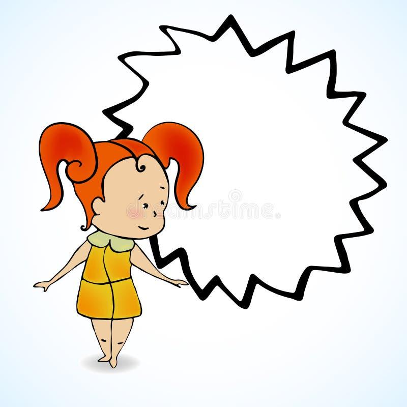 Διανυσματική απεικόνιση του κοριτσιού με την κόκκινη τρίχα απεικόνιση αποθεμάτων