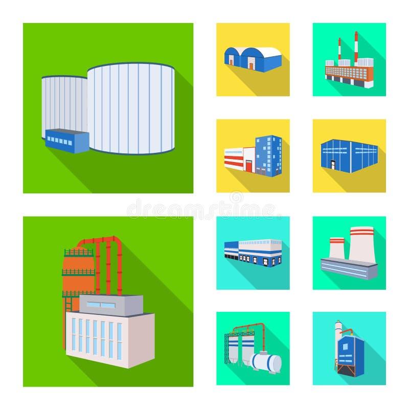 Διανυσματική απεικόνιση του λογότυπου κατασκευής και εξοπλισμού Σύνολο συμβόλου αποθεμάτων κατασκευής και κατασκευής για τον Ιστό διανυσματική απεικόνιση