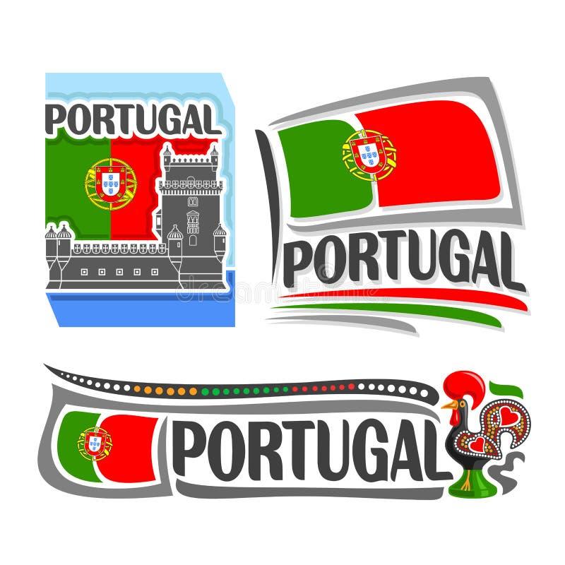 Διανυσματική απεικόνιση του λογότυπου για την Πορτογαλία διανυσματική απεικόνιση