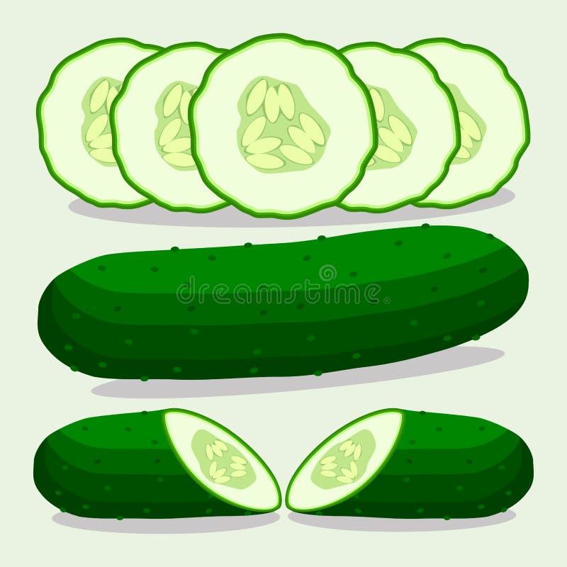 Διανυσματική απεικόνιση του λογότυπου για το πράσινο αγγούρι απεικόνιση αποθεμάτων