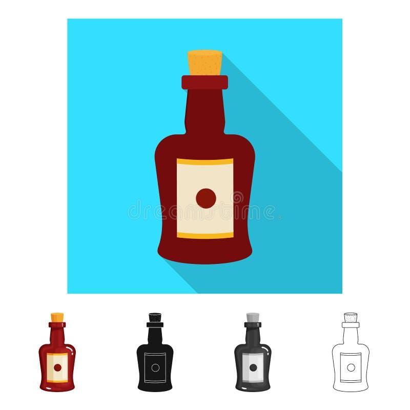 Διανυσματική απεικόνιση του σημαδιού μπουκαλιών και κρασιού Συλλογή του μπουκαλιού και ενισχυμένη διανυσματική απεικόνιση αποθεμά ελεύθερη απεικόνιση δικαιώματος