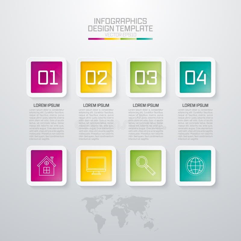 Διανυσματική απεικόνιση του τετράγωνύ infographics ελεύθερη απεικόνιση δικαιώματος