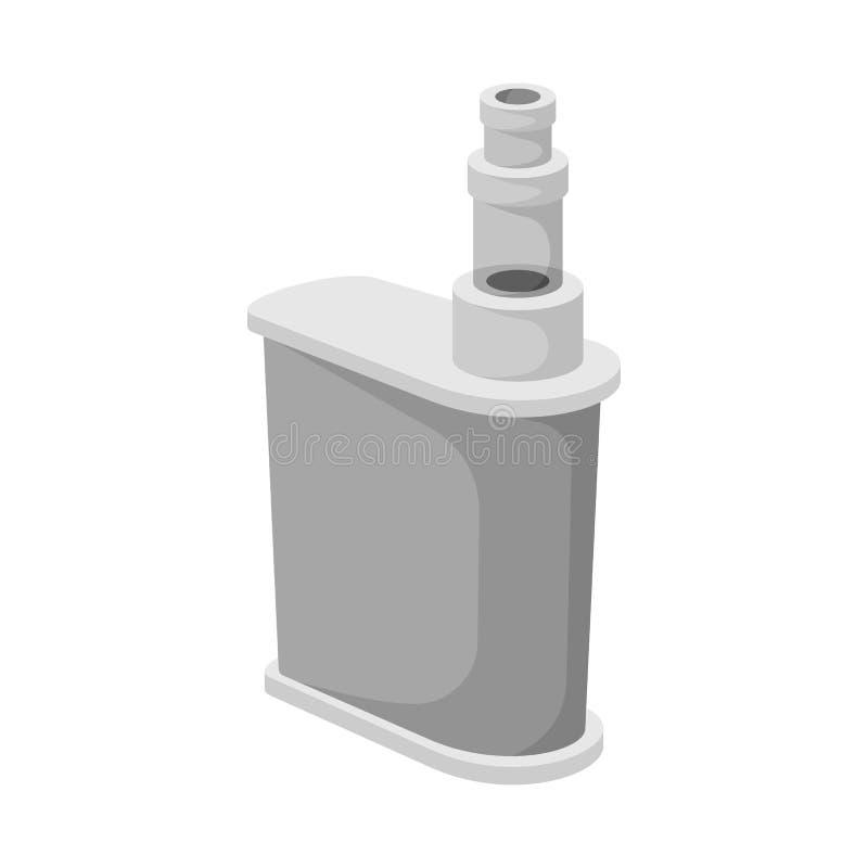 Διανυσματική απεικόνιση του τσιγάρου και του ηλεκτρονικού εικονιδίου Συλλογή του τσιγάρου και του μίμησης διανυσματικού εικονιδίο διανυσματική απεικόνιση