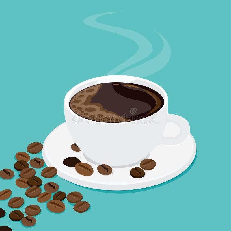 Διανυσματική απεικόνιση του φλιτζανιού του καφέ στοκ εικόνες με δικαίωμα ελεύθερης χρήσης