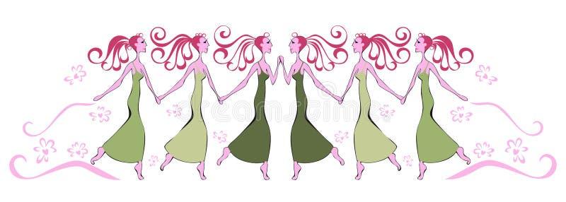Διανυσματική απεικόνιση του χορεύοντας κοριτσιού απεικόνιση αποθεμάτων