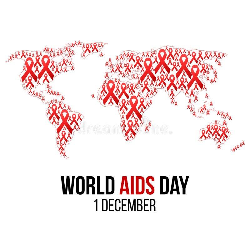 Διανυσματική απεικόνιση του HIV, συνειδητοποίηση ενισχύσεων ελεύθερη απεικόνιση δικαιώματος