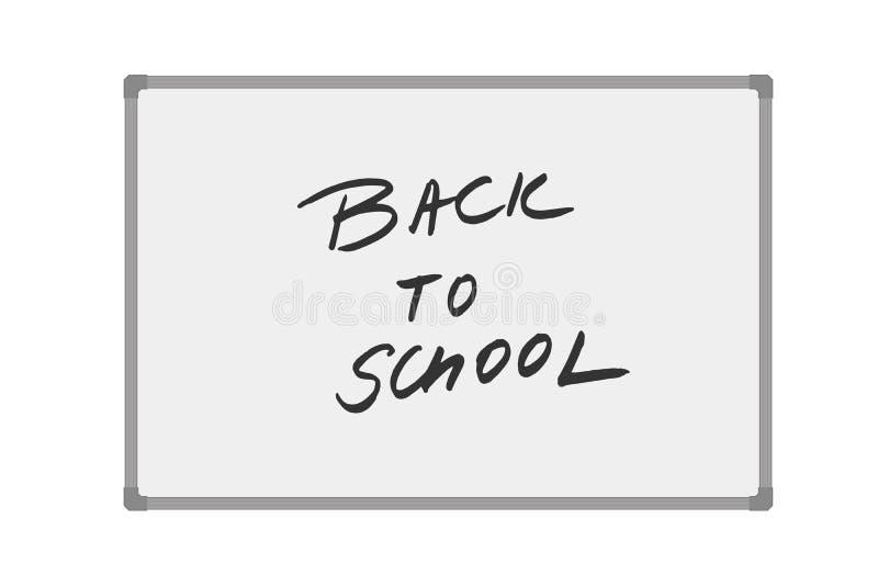 Διανυσματική απεικόνιση του whiteboard με το χειρόγραφο κείμενο πίσω στο σχολείο ελεύθερη απεικόνιση δικαιώματος