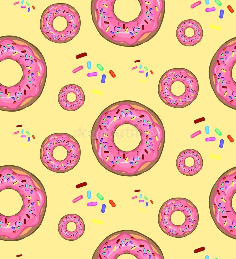 Διανυσματική απεικόνιση, τρόφιμα, σχέδιο, donuts στοκ εικόνες με δικαίωμα ελεύθερης χρήσης