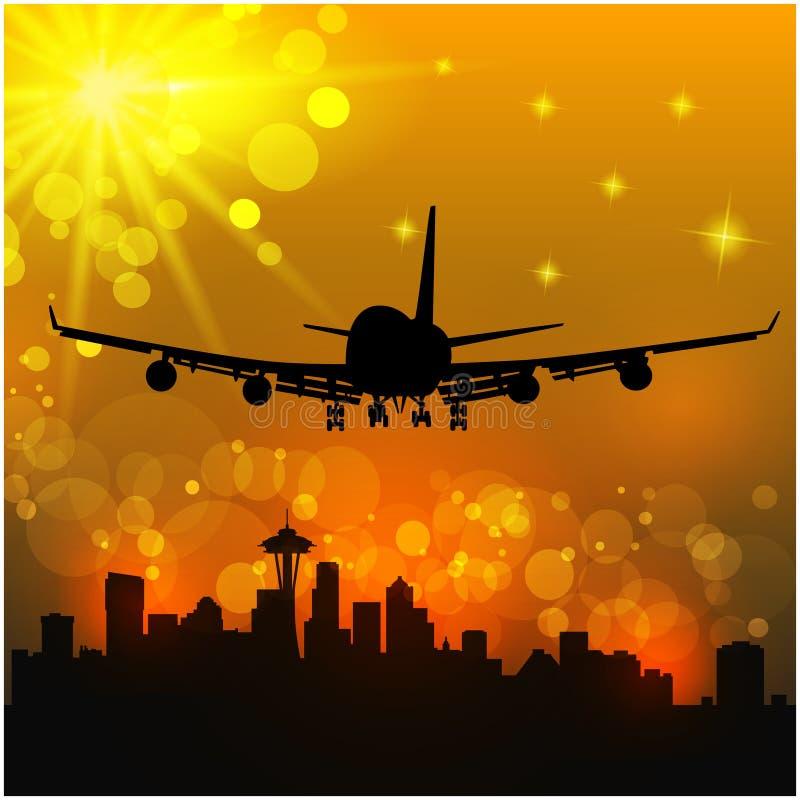 Διανυσματική απεικόνιση των αεροσκαφών ελεύθερη απεικόνιση δικαιώματος