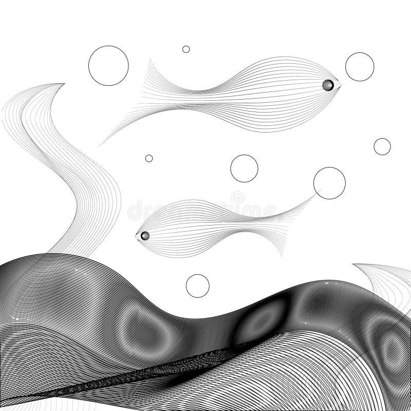 Διανυσματική απεικόνιση των αφηρημένων ψαριών διανυσματική απεικόνιση