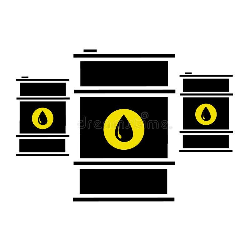 Διανυσματική απεικόνιση των βαρελιών πετρελαίου διανυσματική απεικόνιση