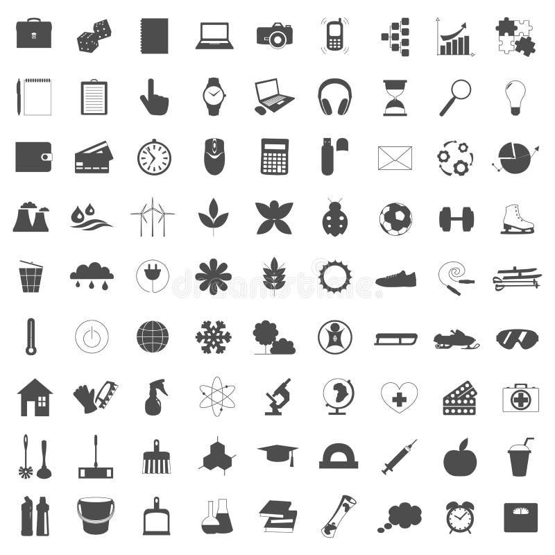 Διανυσματική απεικόνιση των εικονιδίων γραμμών για τις διαφορετικές κοινωνικές σφαίρες ελεύθερη απεικόνιση δικαιώματος
