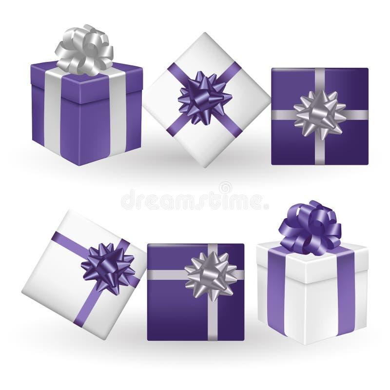 Διανυσματική απεικόνιση των κιβωτίων δώρων ελεύθερη απεικόνιση δικαιώματος