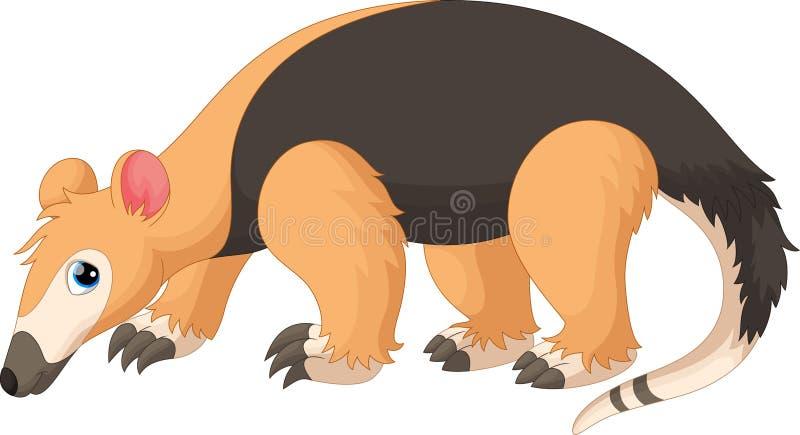 Διανυσματική απεικόνιση των κινούμενων σχεδίων Tamandua απεικόνιση αποθεμάτων