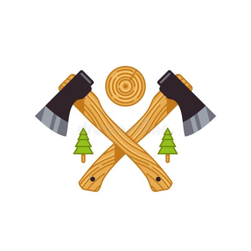 Διανυσματική απεικόνιση των ξύλινων αξόνων στοκ εικόνες