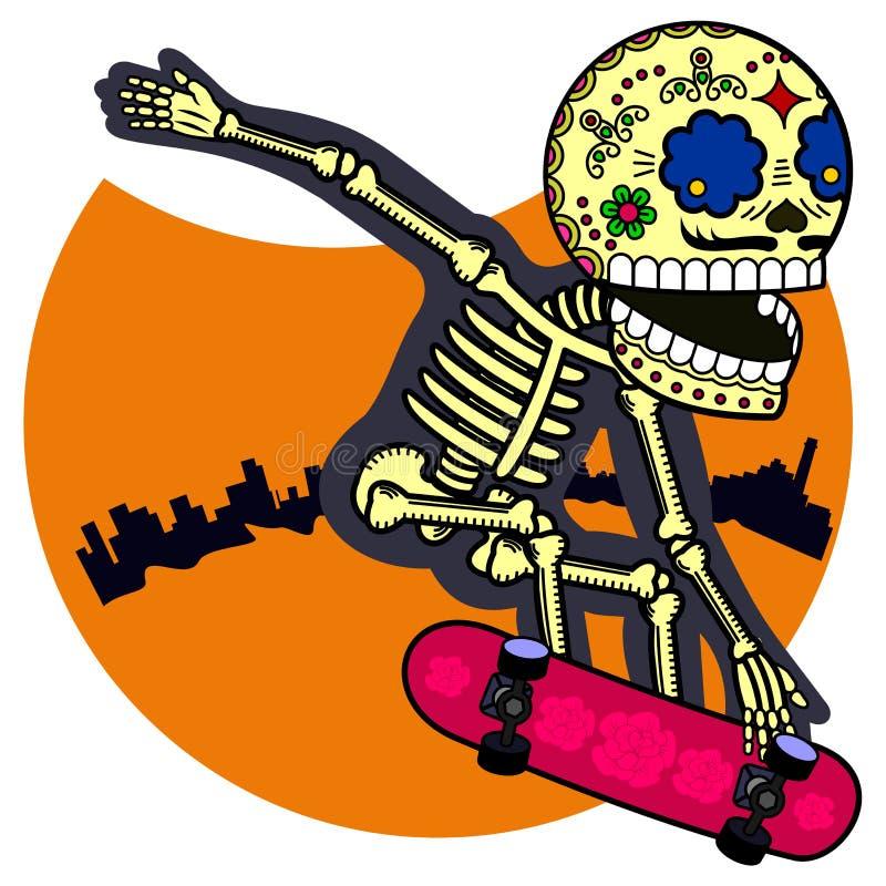 Διανυσματική απεικόνιση των σκελετών απεικόνιση αποθεμάτων