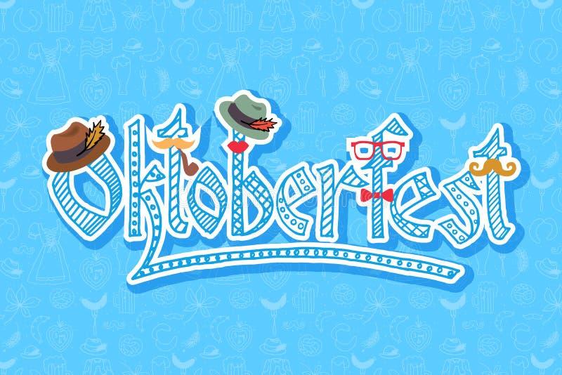 Διανυσματική απεικόνιση των στοιχείων Oktoberfest hipster καθορισμένων ελεύθερη απεικόνιση δικαιώματος