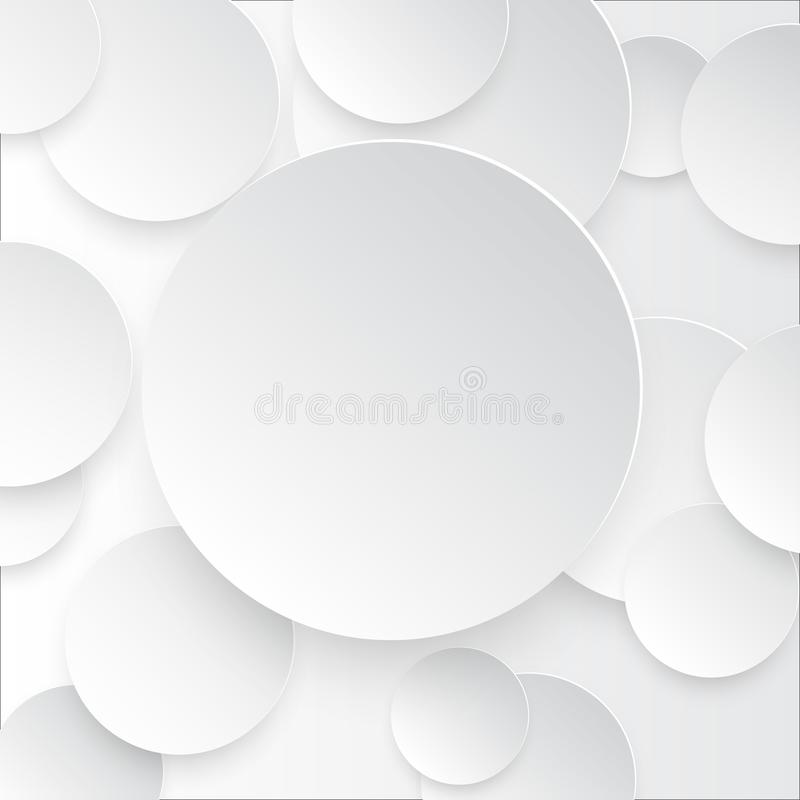 Διανυσματική απεικόνιση των στρογγυλών σημειώσεων της Λευκής Βίβλου με τη σκιά ελεύθερη απεικόνιση δικαιώματος